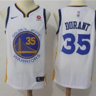 Men's Warriors 35 Kevin Durant Stitched Basketball Jersey White