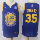 Men's Warriors Kevin Durant #35 Royal Blue Icon Swingman Jersey