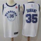 Men's Golden State Warriors #35 Durant Basketball Replica Jersey White