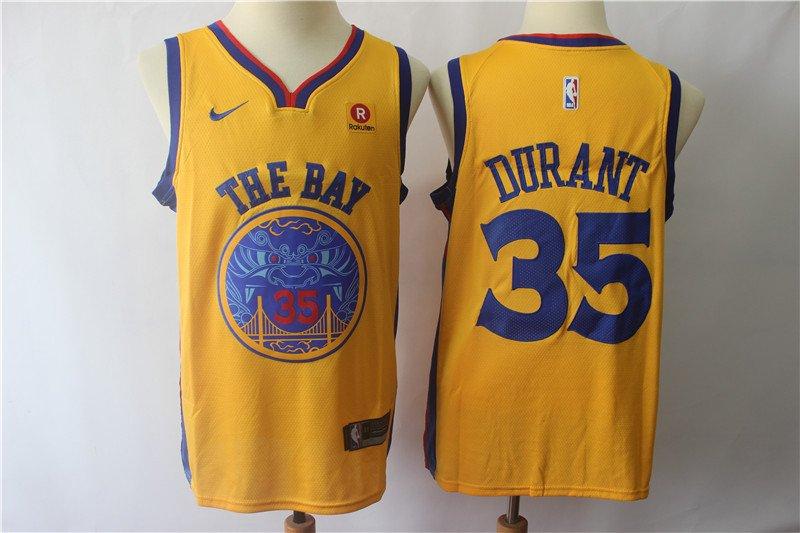 Golden State Warriors Kevin Durant #35 Men's Replica Swingman Jersey