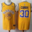 Men's Warriors Stephen Curry City Swingman Jersey Yellow