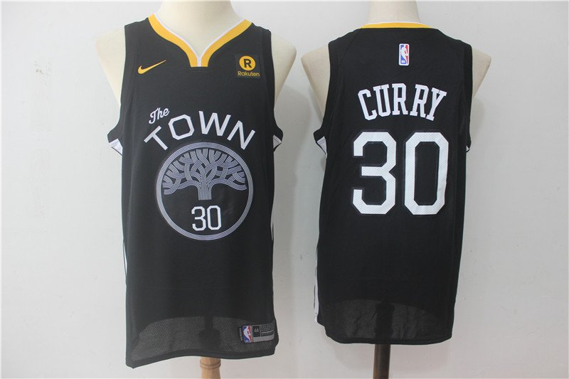 Stephen Curry #30 Men's Warriors Statement Swingman Jersey Black