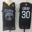 Stephen Curry #30 Men's Warriors Statement Swingman Jersey Black