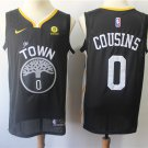 DeMarcus Cousins #0 Men's Warriors Statement Swingman Jersey Black