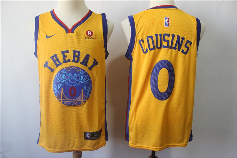 Men's Golden State Warriors Cousins #0 Basketball Replica Jersey