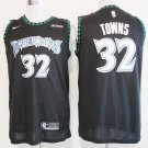 Minnesota Timberwolves #32 Towns Men's Black Swingman Jersey