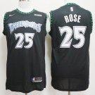 Men's Timberwolves #25 Rose Black City Swingman Jersey