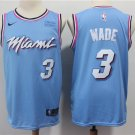 Dwyane Wade #3 Miami Heat Men's Swingman Basketball Jersey Blue