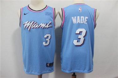 size 40 58b4e b7baa Dwyane Wade #3 Miami Heat Men's Swingman Basketball Jersey Blue