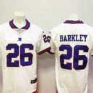 Men's Giants #26 Saquon Barkley White Color Rush Football Player Jersey