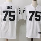 Howie Long 75th Men's Oakland Raiders Football Game Jersey