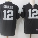 Men's Raiders #12 Stabler Football Game Jersey Black