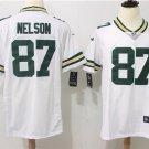 Men's Packer Nelson #87 White Football Game Jersey
