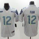 Men's Seahawks 12FAN Football Player Jersey Gray