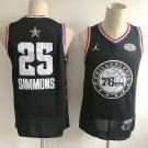Philadelphia 76ers All Star #25 Ben Simmons Men's Black Swingman Jersey