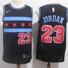 Men's Chicago Bulls MJ #23 City Edition Swingman Jersey black