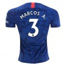 Marcos A. #3 Chelsea FC Home Soccer Jersey 19/20,CFC Men's Stadium Soccer Shirt Football Tops