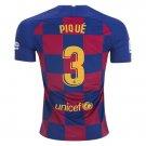 Pique #3 Barcelona Home Soccer Jersey 19/20,La Liga Men's Soccer Stadium Shirt Soccer Football Tops