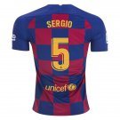 Sergio Busquets #5 Barcelona Home Jersey 19/20,Men's Soccer Stadium Shirt Soccer Football Tops