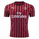 AC Milan Home Soccer Jersey 19/20 Men's Stadium Soccer Shirt Football Shirt
