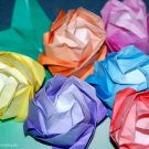 Colorful Origami Roses with Stem