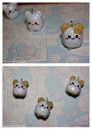 Polymer Clay Hamster Charms