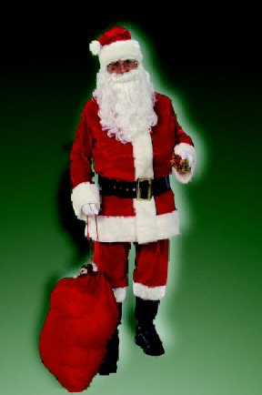 2369 Deluxe Velvet Santa Suit Size 40-48