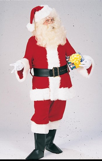 2353XL Deluxe Velveteen Santa Suit - Size 50-56
