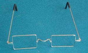 427 Rectangular Santa Glasses