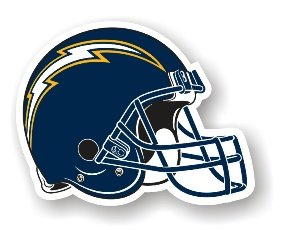 """San Diego Chargers 12"""" Car Magnet"""