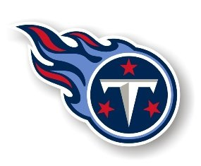 """Tennessee Titans 12"""" Car Magnet"""