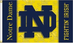Notre Dame 2 sided 3' x 5' Outdoor Flag