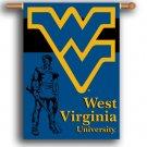 """West Virginia Mountaineers 28"""" x 40"""" Outdoor Banner"""