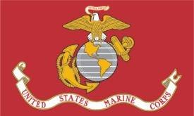 U.S. Marines Flag (3' x 5') Made of Nylon
