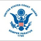 U.S. Coast Guard Flag (3' X 5') Made of Nylon