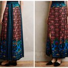 Anthropologie Sunsong Silk Maxi Skirt Retailed for $574 by Anna Sui Sz 6 - NWT