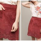 Anthropologie Napa Lazer-Cut Leather Skirt by Maeve $198 - NWT