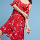Anthropologie Winnie Open-Shoulder Silk Dress by Nanette Lepore $478 Sz 6 - NWT