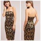 Anthropologie  Tracy Reese Strapless Jacquard Dress $348 Sz 10 - NWT