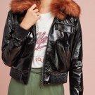 Anthropologie Vegan Leather Flight Jacket by Capulet Sz S - NWT