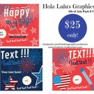 ON SALE! 50% OFF 4th of July Social Media Pack