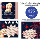 ON SALE! 50% OFF Vintage 4th of July social media pack