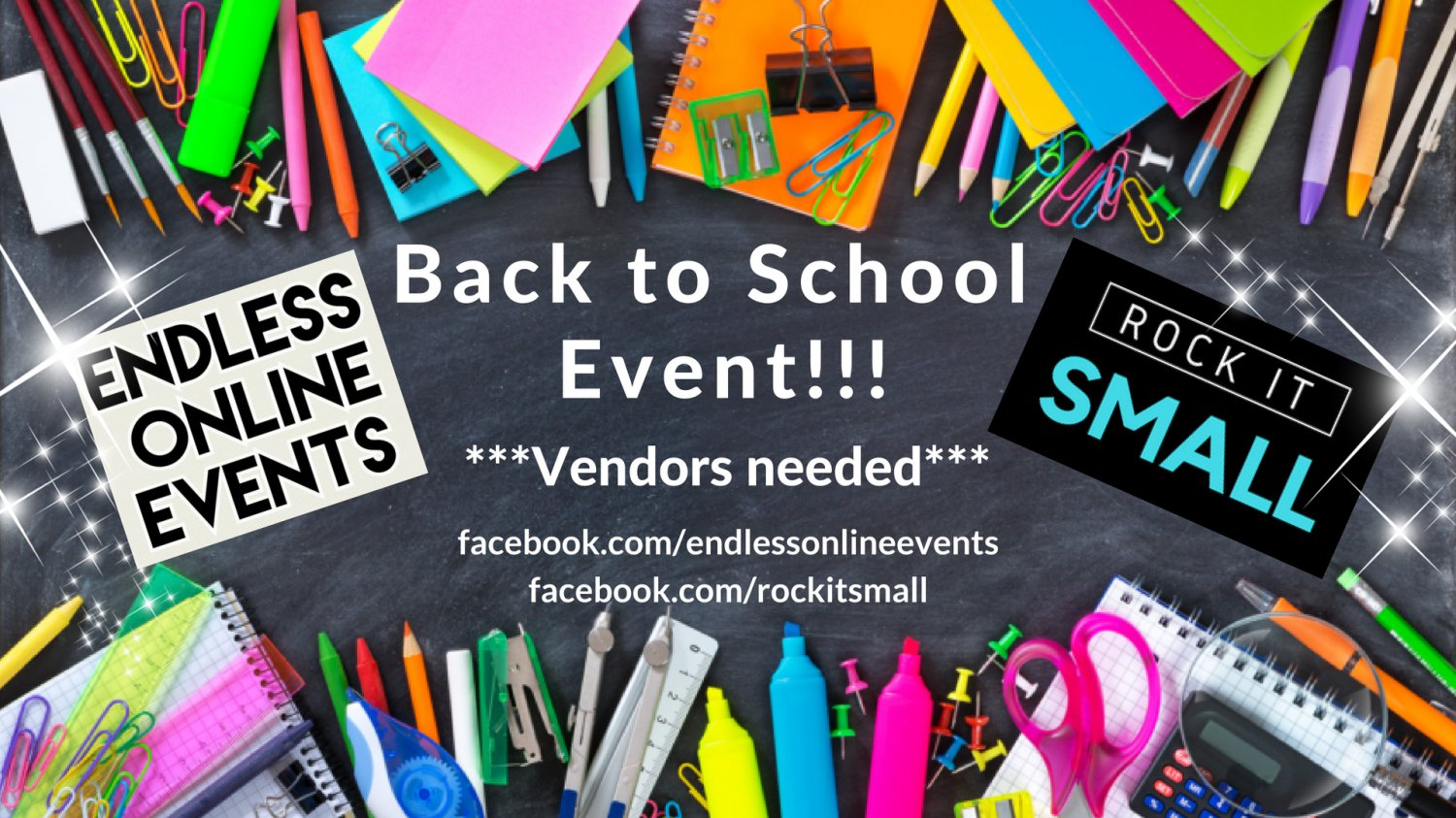1 Vendor Spot Back To School Shopping Spree Giveaway Event