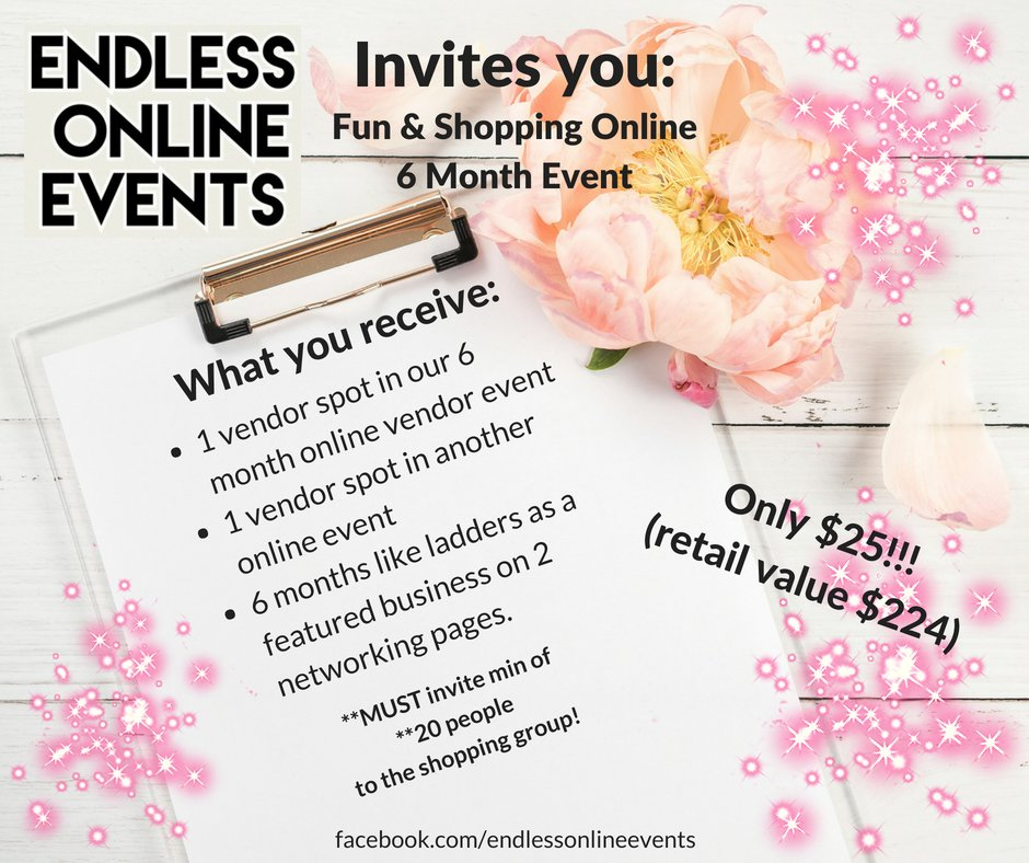1 Vendor Spot 6 MONTH EVENT PACKAGE