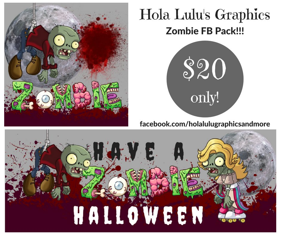 Zombie Halloween FB pack