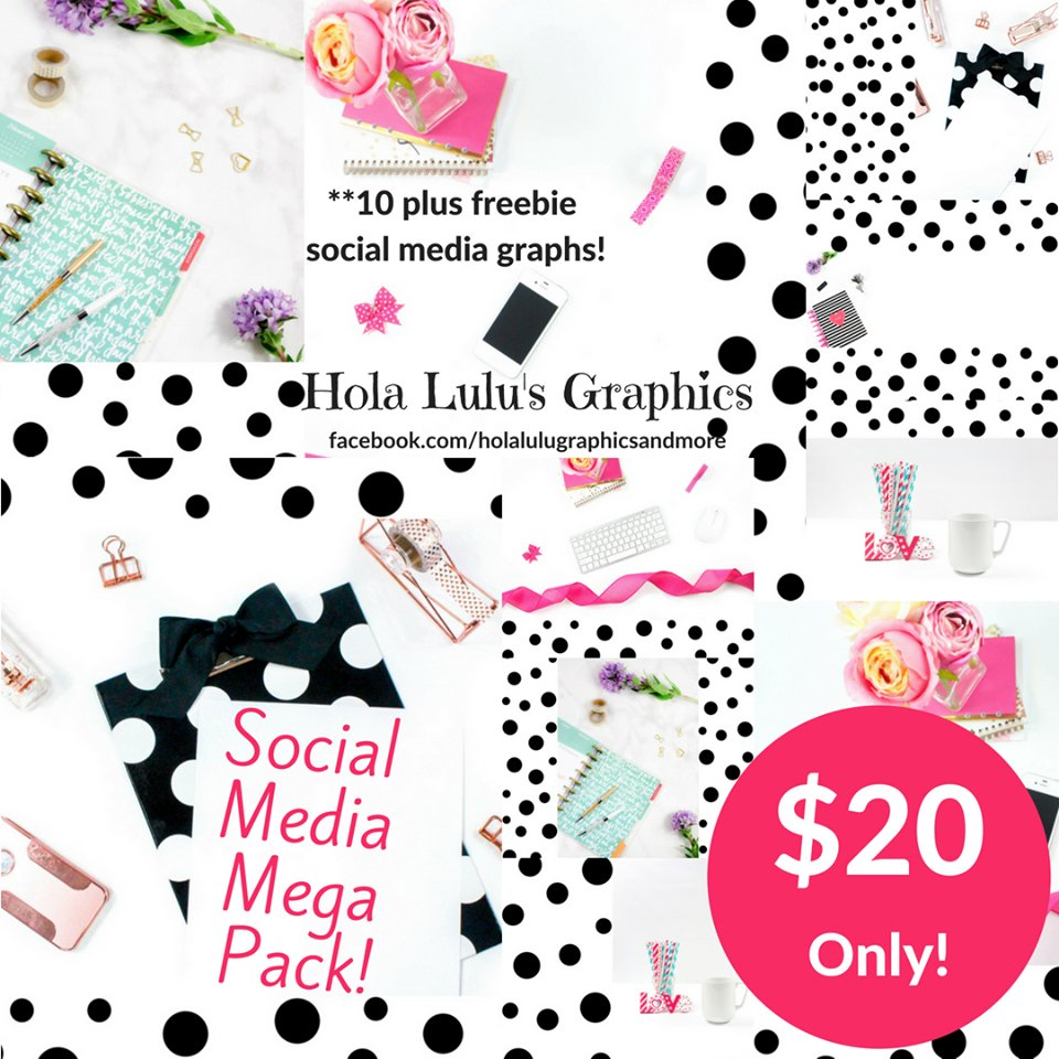 Polka Dots Social Media Mega Pack