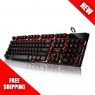 DBPOWER 3 Colors Backlit LED Keyboard for Gaming, Office