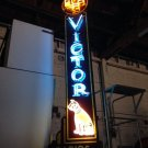 Vintage 1940's RCA VICTOR  Double-sided PORCELAIN Neon sign SUPER RARE / nipper