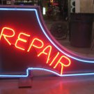 Vintage 1950's SHOE REPAIR double sided NEON Sign - Antique Boot