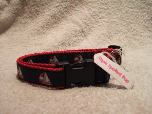 Small Sailboat Dog Collar